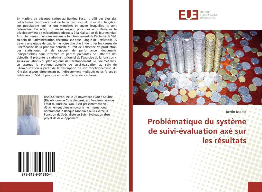 Problématique du système de suivi-évaluation axé sur les résultats als Buch (kartoniert)