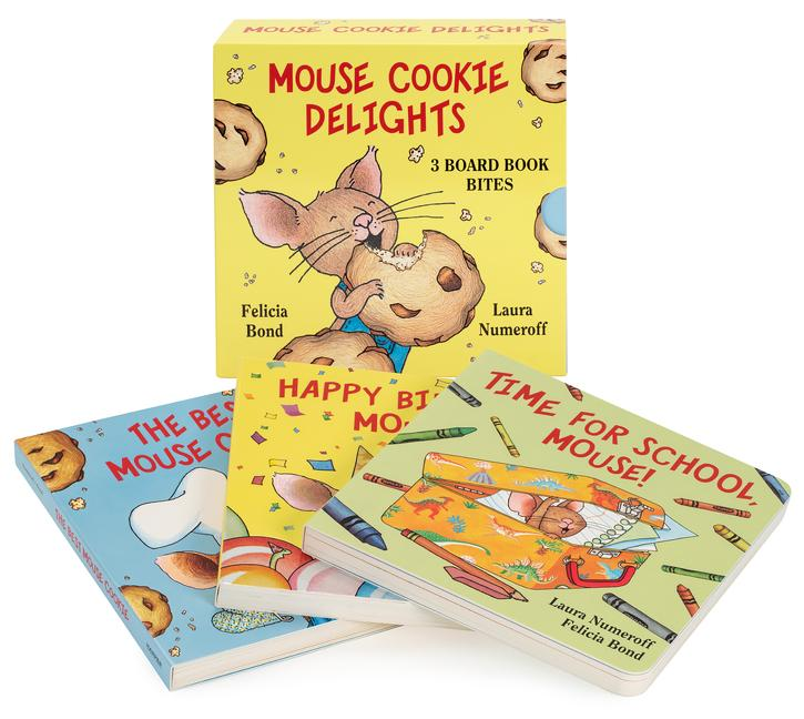 Mouse Cookie Delights: 3 Board Book Bites: The Best Mouse Cookie; Happy Birthday, Mouse!; Time for School, Mouse! als Taschenbuch