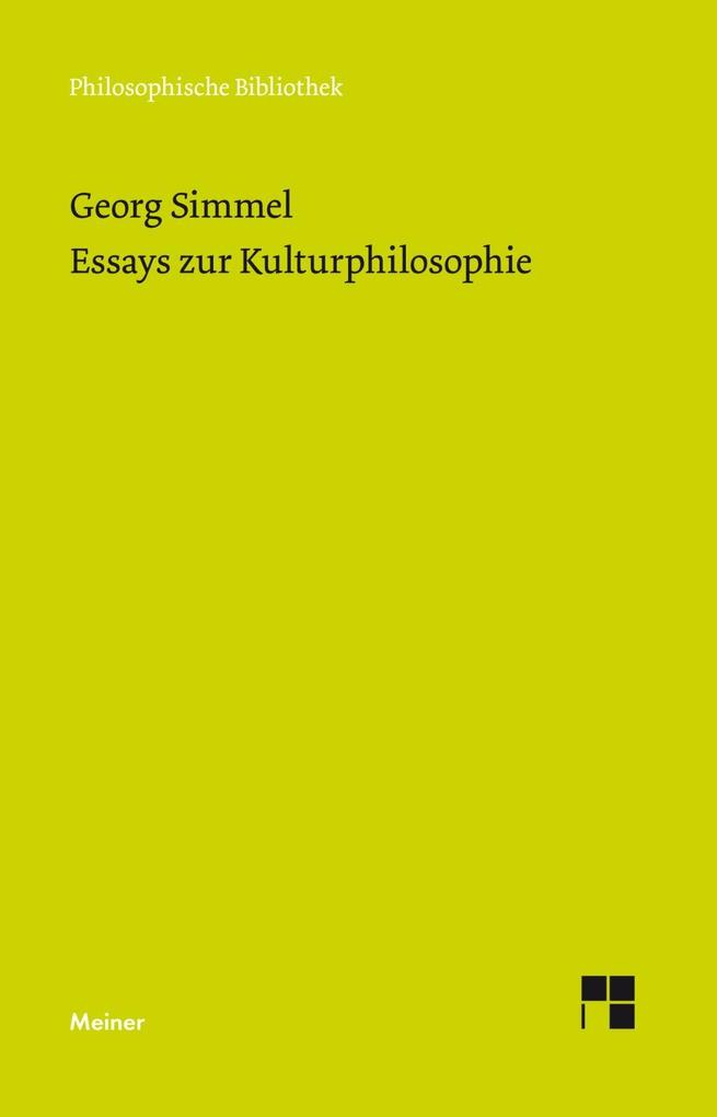 Essays zur Kulturphilosophie als Buch (kartoniert)