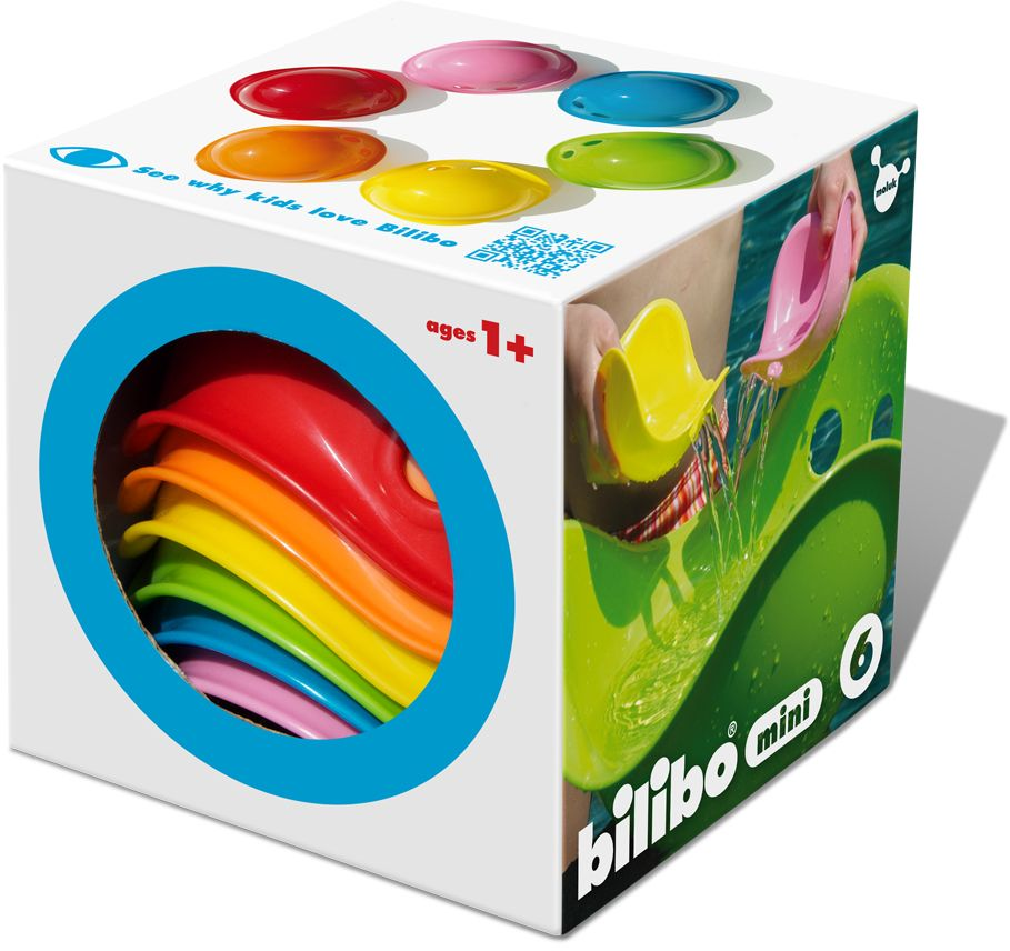 Moluk - Bilibo Mini Stapel & Badespielzeug 6x1ass als Spielware
