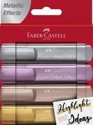Faber-Castell Textmarker TL 46 Metallic 4er Etui (gold, silber, rosé, rubin)