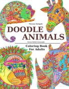 Doodle Animals Stress Relief Zentangle Coloring Book For Adults