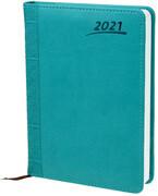 Buchkalender 2021 Aqua A5