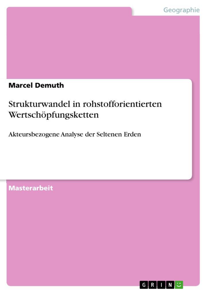Strukturwandel in rohstofforientierten Wertschöpfungsketten als eBook pdf