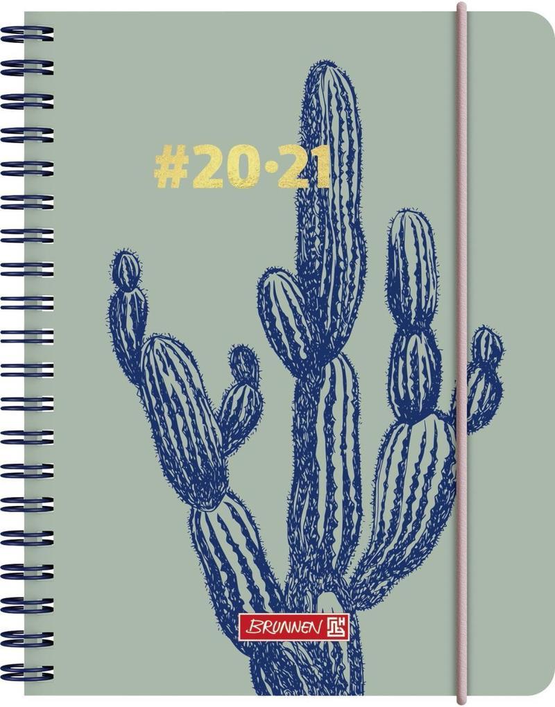 BRUNNEN 1071850021 Wochenkalender/Schülerkalender #Harmony, Cactus als Kalender