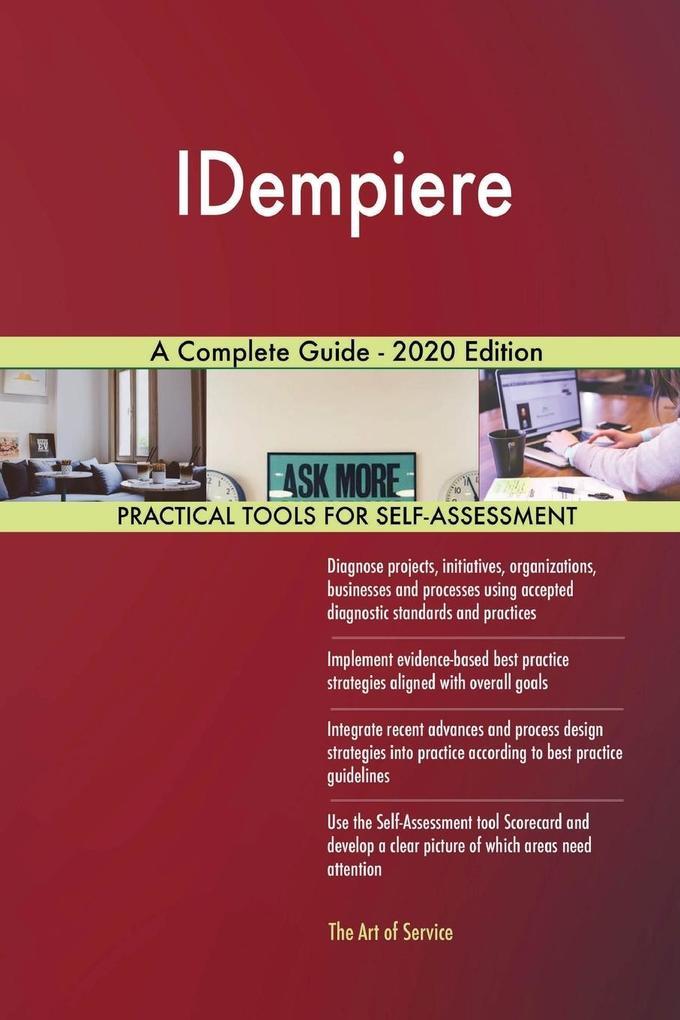 IDempiere A Complete Guide - 2020 Edition als Taschenbuch