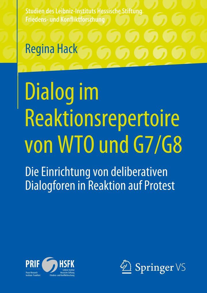 Dialog im Reaktionsrepertoire von WTO und G7/G8 als Buch (kartoniert)