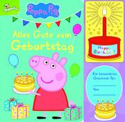 Peppa Pig - Wir feiern Geburtstag - Interaktives Geburtstags-Soundbuch mit 1 Melodie und leuchtender Kerze - Pappbilderbuch für Kinder ab 12 Monaten