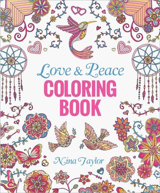 Love & Peace Coloring Book als Taschenbuch