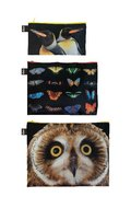 LOQI National Geographic Owl, Butterflies, Penguins Zip Pockets