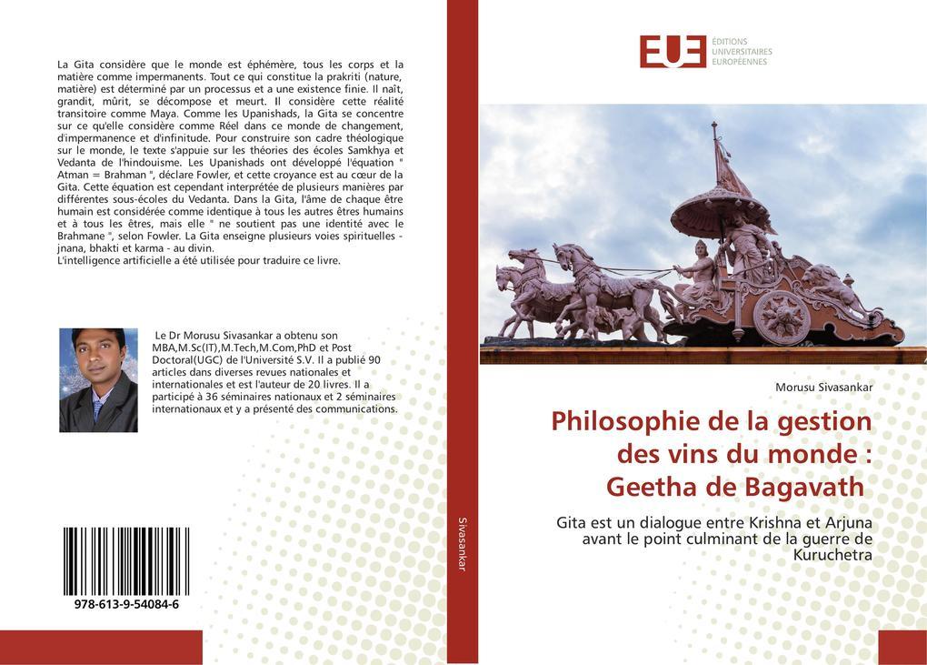 Philosophie de la gestion des vins du monde : Geetha de Bagavath als Buch (kartoniert)