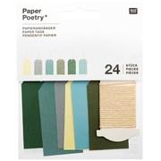 Papieranhänger Klein, Grün Mix FSC Mix
