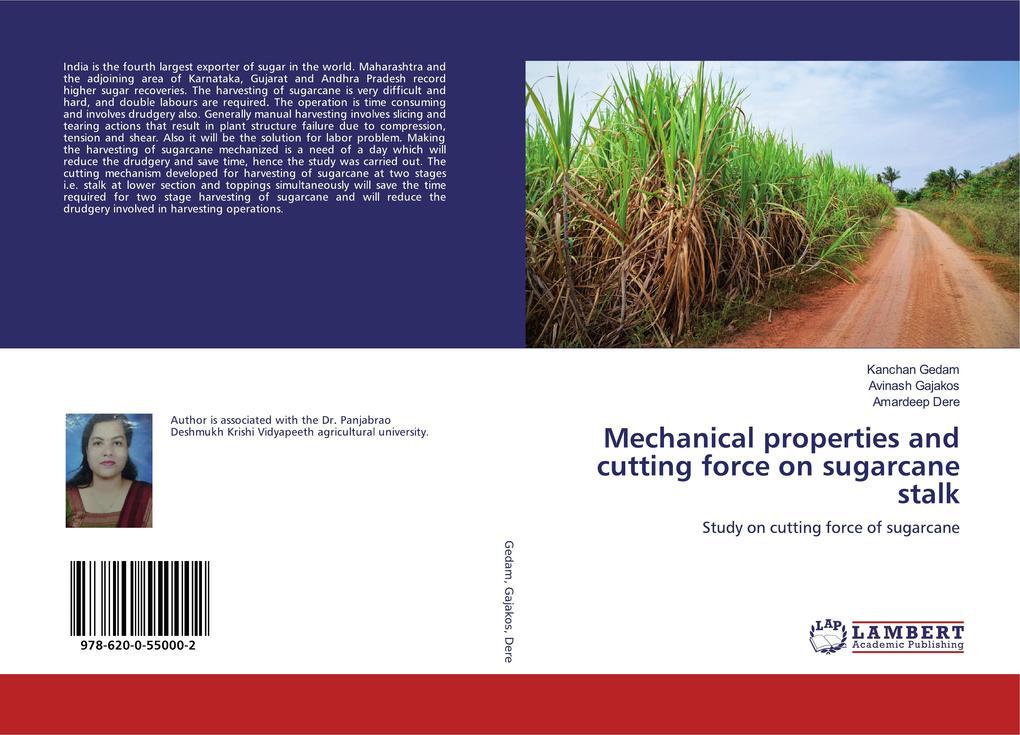 Mechanical properties and cutting force on sugarcane stalk als Buch (kartoniert)