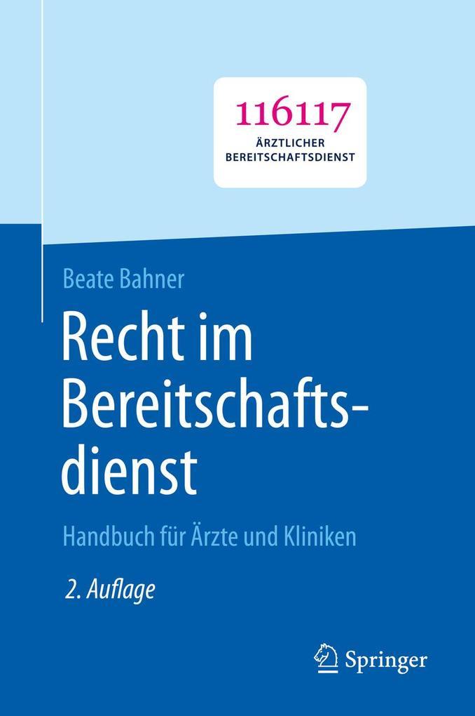 Recht im Bereitschaftsdienst als eBook pdf
