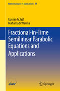 Fractional-in-Time Semilinear Parabolic Equations and Applications