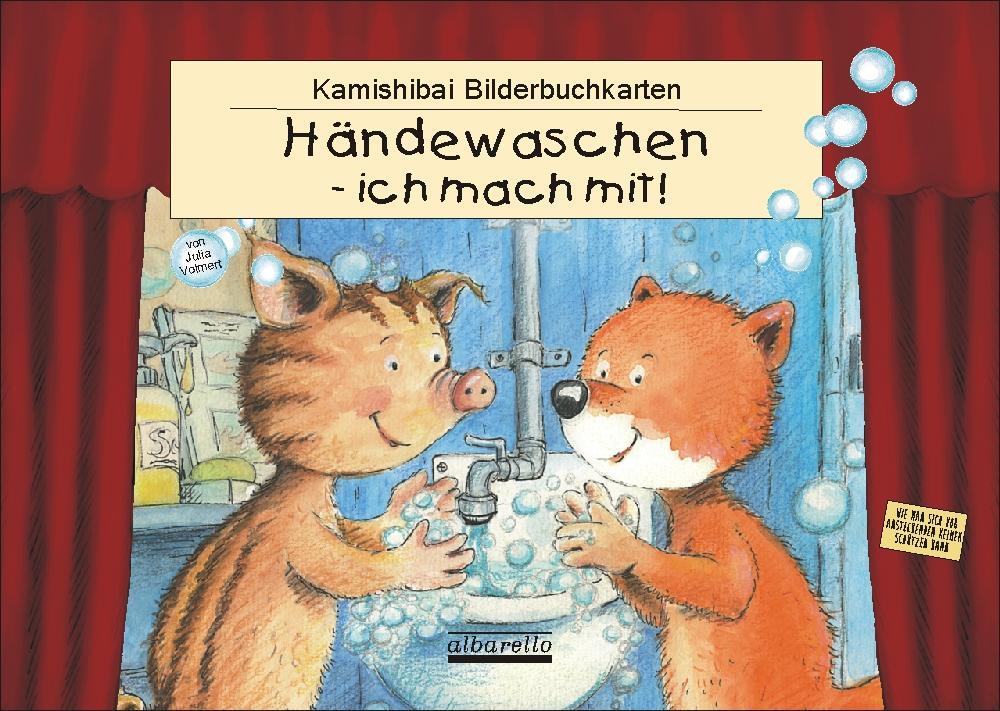 HÄNDEWASCHEN - ICH MACH MIT! 11 Kamishibai-Bilderbuchkarten als Buch (kartoniert)