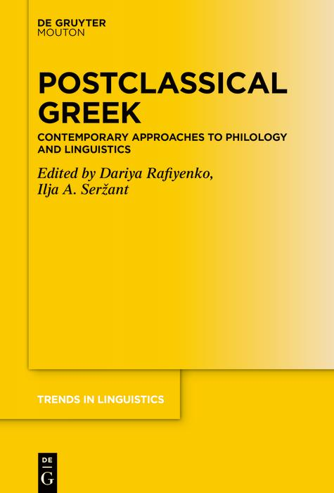 Postclassical Greek als eBook epub