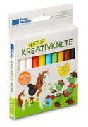 Corvus A730186 - Natur Kreativknete Pony, 10 Stangen, Knete