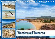 Wandern auf Menorca (Tischkalender 2021 DIN A5 quer)