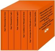 Die Hauptwerke: Phänomenologie des Geistes. Wissenschaft der Logik I. Wissenschaft der Logik II.Grundlinien der Philosophie des Rechts. Politische Schriften. Vorlesungen über die Philosophie der Geschichte.