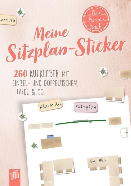 """Meine Sitzplansticker """"live - love - teach"""" als Sonstiger Artikel"""