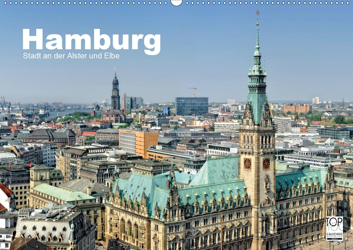 Hamburg Stadt an der Alster und Elbe (Wandkalender 2021 DIN A2 quer) als Kalender