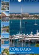 CÔTE D'AZUR Cannes, Monaco und Nizza (Wandkalender 2021 DIN A4 hoch)