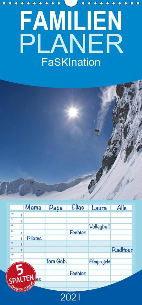 Faskination - Familienplaner hoch (Wandkalender 2021 , 21 cm x 45 cm, hoch) als Kalender