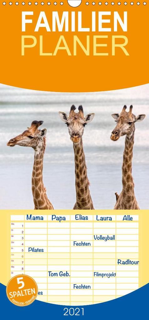 Afrikas Tierwelt: Giraffen - Familienplaner hoch (Wandkalender 2021 , 21 cm x 45 cm, hoch) als Kalender
