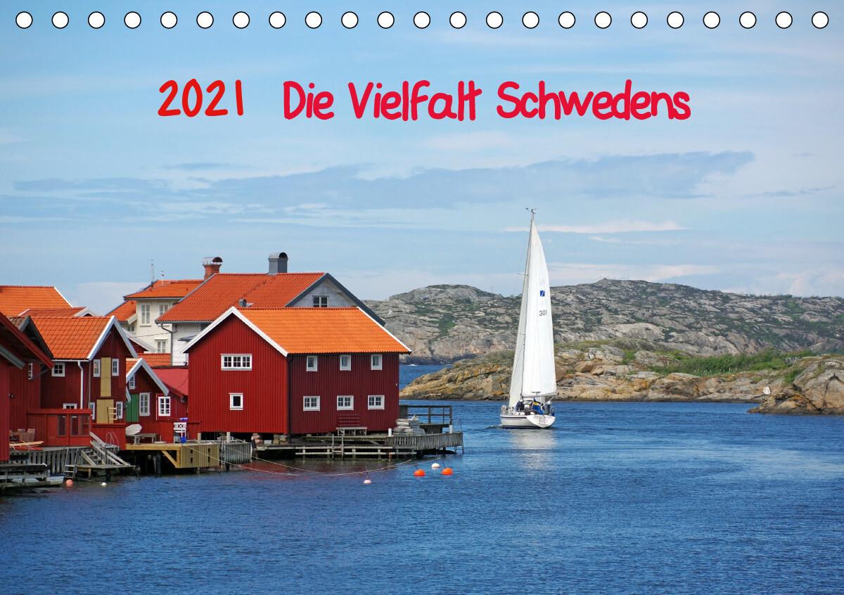 Die Vielfalt Schwedens (Tischkalender 2021 DIN A5 quer) als Kalender