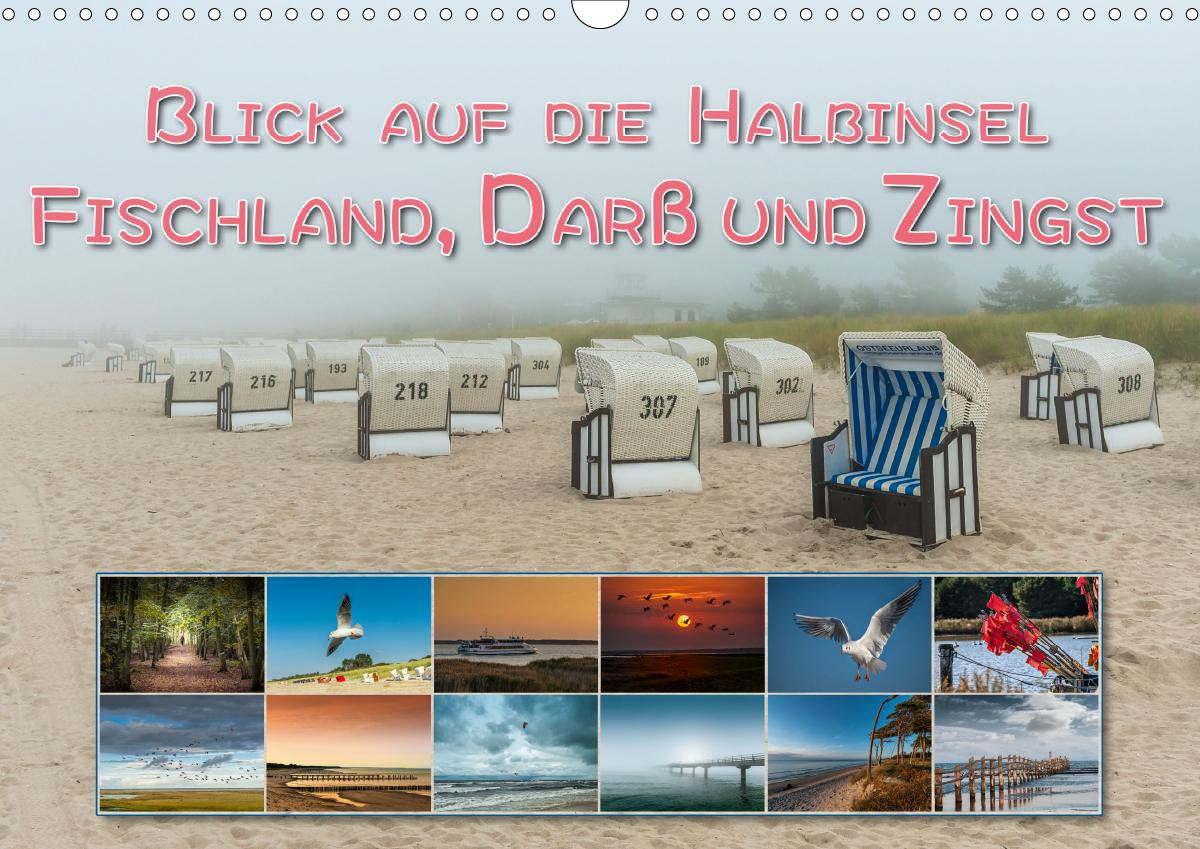 Blick auf die Halbinsel Fischland, Darß und Zingst (Wandkalender 2021 DIN A3 quer) als Kalender