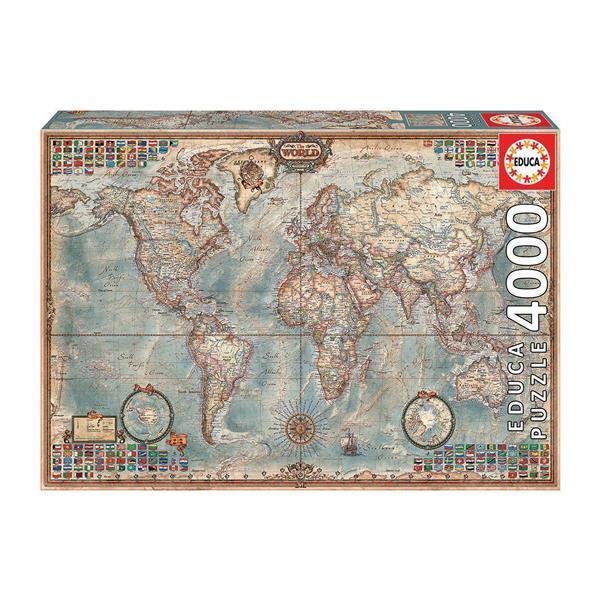 Educa Puzzle. Historic World Map 4000 Teile als Spielware