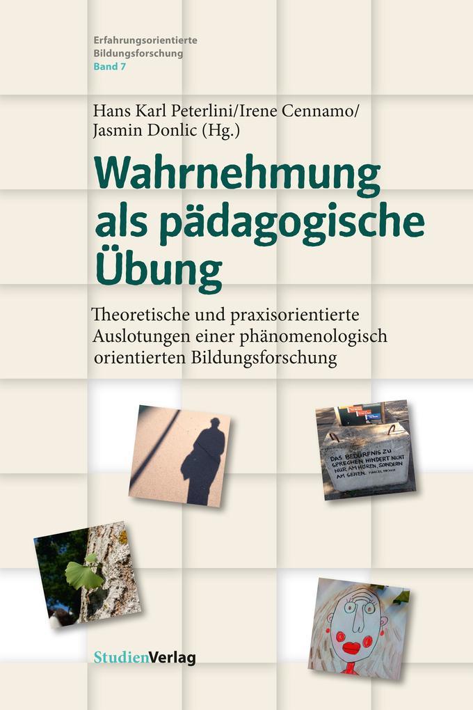 Wahrnehmung als pädagogische Übung als Buch (kartoniert)