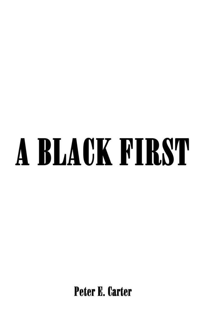 A BLACK FIRST als Buch (kartoniert)