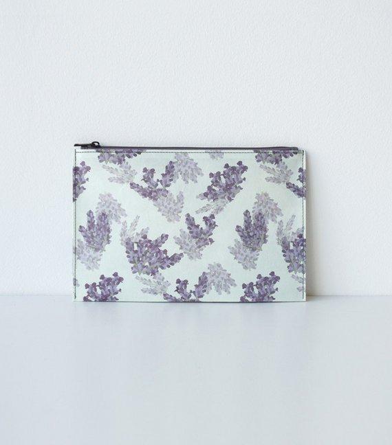 Hanji-Papiertasche Federmäppchen Kosmetiktasche - Lila/Lavendel - aus traditionellem Hanji-Papier - mit Reißverschluss als Sonstiger Artikel