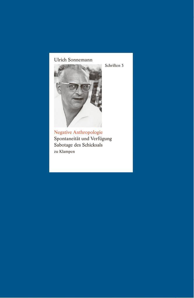 Negative Anthropologie. Schriften 3 als eBook pdf