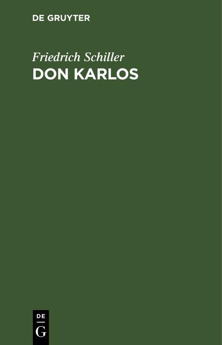 Don Karlos als eBook pdf