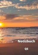 Notizbuch - Sonnenuntergang am Meer