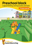Preschool block - Logical thinking, solving puzzles and tasks 5 years and up, A5-Block