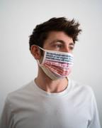 Hugendubel Mund-Nasen-Maske 5 Stück Multicolor