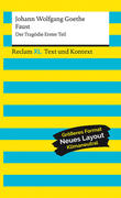 Faust. Der Tragödie Erster Teil. Textausgabe mit Kommentar und Materialien