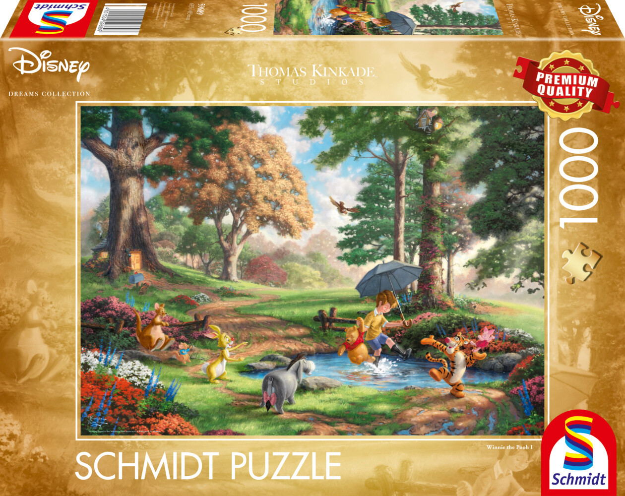 Schmidt Spiele - Thomas Kinkade Collection - Disney, Winnie The Pooh als Spielware