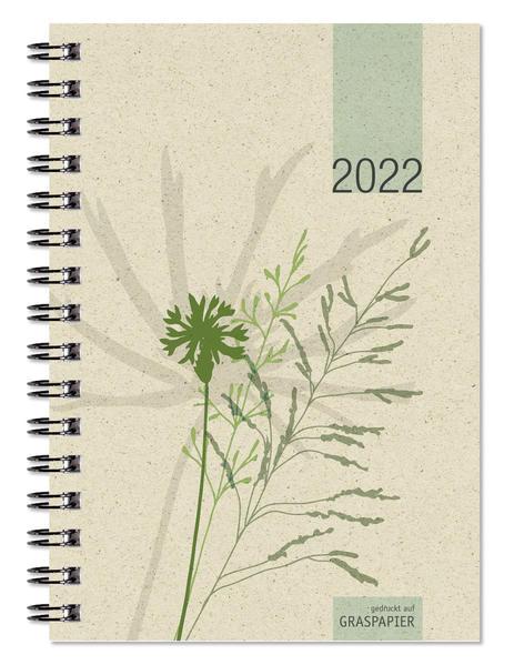 Taschenkalender Graspapier 2022 - Büro-Kalender 10x14 - 1W/2S - 4-sprachig - 639-0640-1 als Kalender