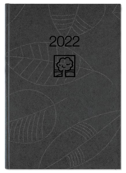 Taschenkalender anthrazit 2022 - Blauer Engel - Büro-Kalender 10,2x14,2 - 1T/1S - Stundeneinteilung 7-22 Uhr - 610-0717-1 als Kalender