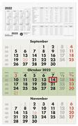 Dreimonatskalender 2022 Nr. 956-0700