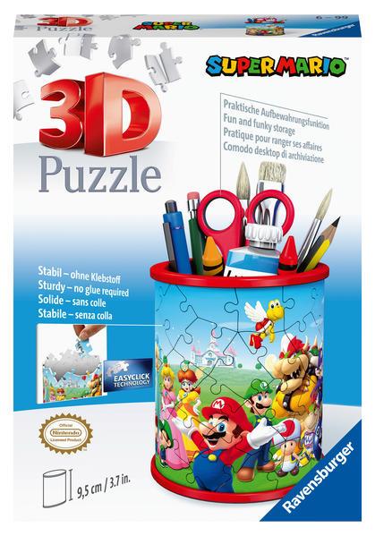 Ravensburger 3D Puzzle Utensilo Super Mario 11255 - 54 Teile - Stiftehalter für Super Mario Fans ab 6 Jahren als Spielware