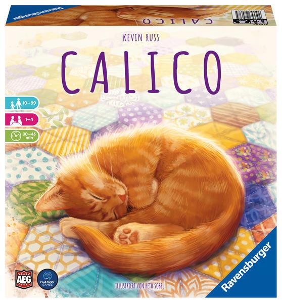 Ravensburger 27038 - Calico, Abwechslungsreiches Legespiel für Erwachsene, Kinder und Katzen Fans ab 10 Jahren, Ideal für Spieleabende für 1-4 Spieler als Spielware