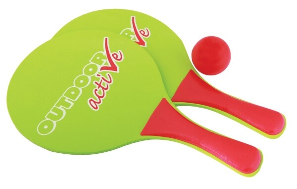 Outdoor active Beachball-Schlägerset mit Ball als Spielware
