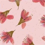 Geschenkpapier Blüten, rosa, FSC MIX