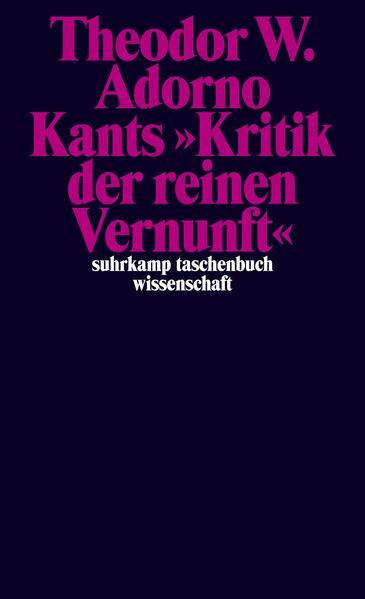 Kants »Kritik der reinen Vernunft« (1959) als Taschenbuch